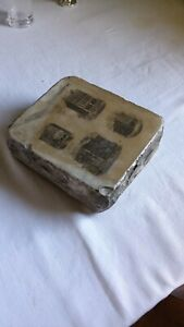 Antique Litho Printing Stone Knoxville Tenn Collectable Printing Block 1880 S
