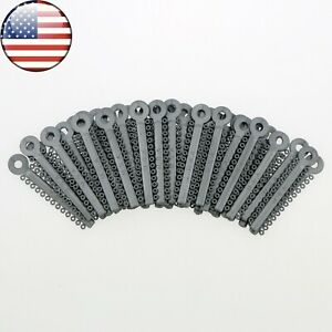 Usa 1040 Pcs Dental Orthodontic Ligature Elastic Ties Grey Color Usps Shipment
