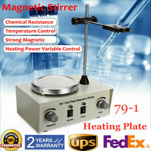 79 1 Hotplate Magnetic Stirrer Mixer Lab With Heating Plate 1000ml Speed Control