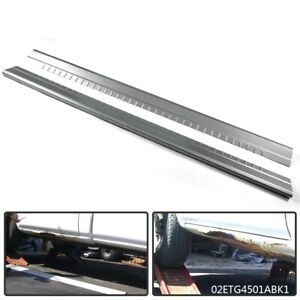Pair Slip On Rocker Panels For 1999 07 Chevy Silverado Gmc Sierra Extended Cab