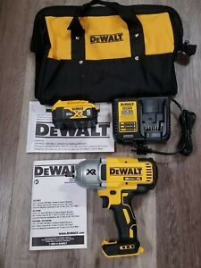 Dewalt 20v Max Xr 1 2 High Torque Impact Wrench 5 0 Battery Charger Dcf899h