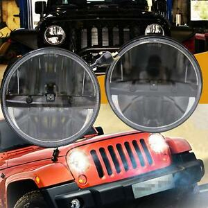 7 80w Led Headlight Hi lo Beam For Jeep Wrangler Jk Tj Lj Harley 97 16