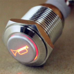 Car Boat Led Light Waterproof Momentary Horn Metal Push Button Switch 12v Ayh