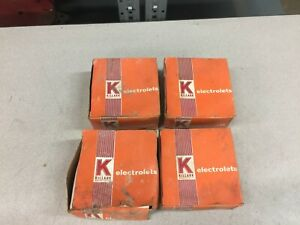 New In Box lot Of 4 Killark Threaded Fixture Cap And Gaskets Vfc 200