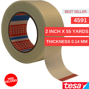 Glass Fiber And Pet Tesa 4591 Tape 2 In X 55 Yds X Thickness 0 14 Mm Translucent