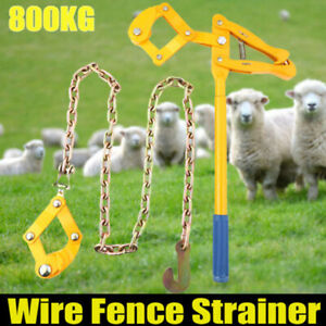 800kg Wire Fencing Strainer Plain Barbed Fence Energiser Chain Repair Tool Us