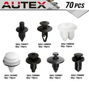 70x Cowl Top Side Marker Lamp Clip Nut Retainer Kit For 1996 1998 Nissan Maxima