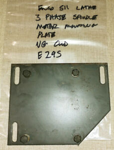 Emco Maximat Super 11 Lathe 3p Spindle Motor Mounting Plate E29s