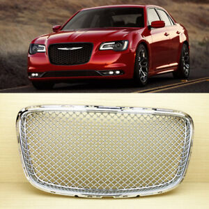 Front Grille Chrome Bentley Type For Chrysler 300 300c 2015 2019