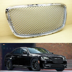 2015 2019 Fit Chrysler 300 300c Front Kidney Grille Grill Chrome Bentley Style
