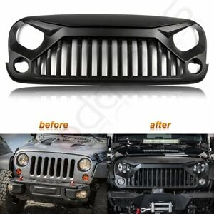 Front Angry Bird Grill Grille For Jeep Wrangler 2007 2017 Jk Unlimited Black