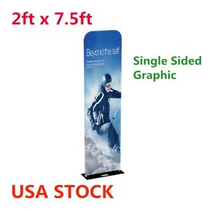 2ft 32mm Exhibition Booth Tension Fabric Display Graphic Included Single Sided