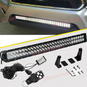 Fit 05 15 Toyota Tacoma Off road 30 180w Combo Led Light Bar W remote Control
