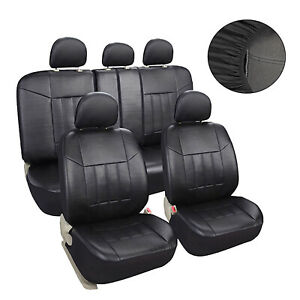 Universal Auto Leather Seat Covers Set Fit For Car Suv Trucks Front