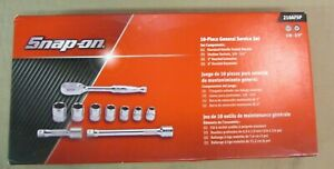 Snap on Tools 210afsp 10 pc 3 8 Drive 6 pt Sae General Service Socket Wrench