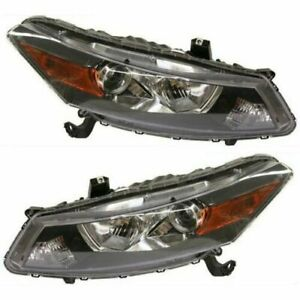 Fits 2008 2009 2010 2011 2012 Honda Accord Headlights Pair Coupe