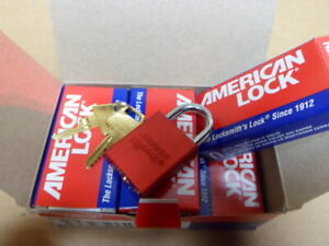 6 American Lock A1105red Lockout Padlock Red 1 7 8 Keyed Different