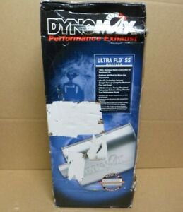 Dynomax Ultra Flo Ss Muffler 17289 2 5 Inlet 2 5 Outlet Polished Stainless