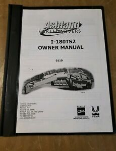 Ashland Earth Movers I 180ts2 Owner Manual Ver 0110 1j 2457 y21