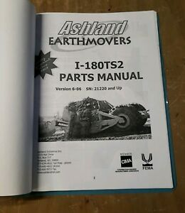 Ashland Earth Movers I 180 ts2 Owner Manual Ver 6 06 1j 2460 y21