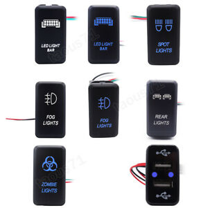 Led Light Bar Button Rocker Switch Fit Toyota Pickup Tacoma Tundra Fj Cruiser