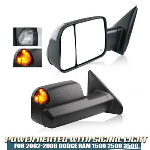Power Heated Towing Mirrors W Signal Fit 02 08 Dodge Ram 1500 03 09 2500 3500