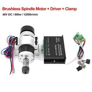 Er16 20000rpm 500w High Speed Air Cooling Brushless Spindle Motor Driver Clamp