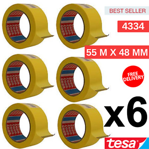 Outdoor And Indoor Masking Tape 55 M X 48 Mm Tesa 4334 New Big Pack Of 6 Rolls