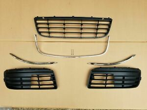 Fits For 2005 2010 Vw Jetta Front Bumper Grille Fog Lamp Covers And Moulding