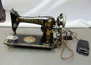 Vintage Antique 1907 Singer Model 66 Electric Sewing Machine