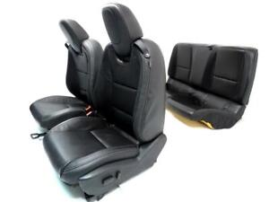 Chevy Camaro Seats Black Leather Power Bucket Front Rear 2010 2011 2012 2015