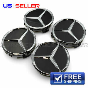 Wheel Center Caps Emblem 75mm 4pc Set For Mercedes Benz Amg Cc03 Us Seller