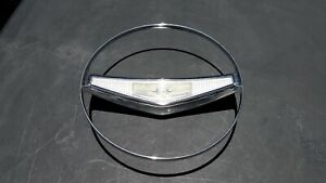Used Nice Gm 1958 58 Chevy Bel Air Horn Blowing Ring And Horn Button Cap 762236
