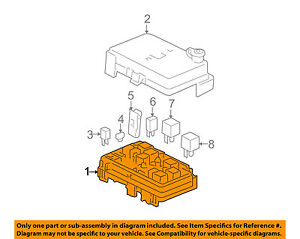 Gm Oem Electrical fuse Relay Box 25825001