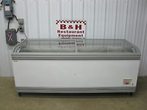 Aht Sliding 2 Dr Glass Top Ice Cream Freezer Frozen Food Merchandiser Paris 210