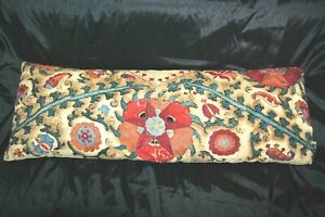 Antique Embroidered Pillow Cushion Victorian Needlework Hand Made 1800s