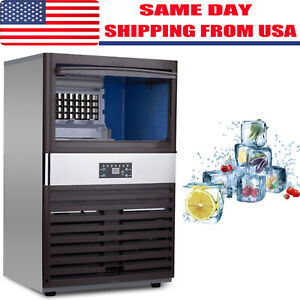 130lbs Built in Commercial Ice Maker Undercounter Freestand Ice Cube Machine Us
