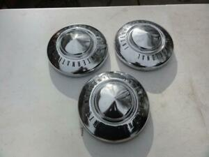 3 Vintage 1960s 1970s International Truck Hubcaps Pickup Ih Chrome