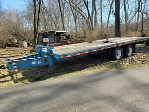 1997 Norris Used 28 Ft Deckover Equipment Trailer W Title