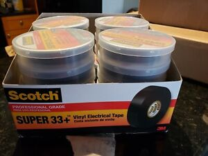 3m Scotch Super 33 Vinyl Electrical Tape 3 4 Inch X 66 foot box Of 33 Units