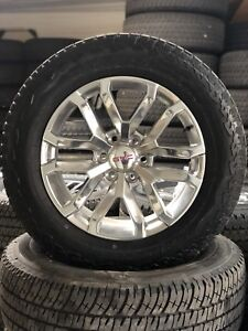 20 Gmc Sierra Yukon 2019 Oem Z71 Wheels Rims Tire 2017 2018 New Polished