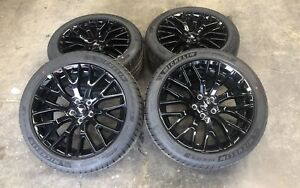 19 Ford Mustang Gt Factory Oem Rims Wheels Tires Staggered Set Of 4 10036 10038