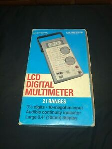 Vintage Radio Shack Micronta Digital Multimeter 22 191 New In Box