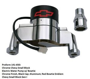 Proform 141 650 Chrome Chevy Small Block Electric Water Pump W Bowtie