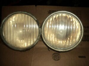 Vintage 1920 s 30 s Pair Of Ford Model A Fluted Head Lamps Headlights Rat Rod