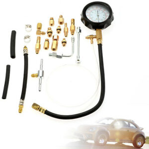 Car Auto Fuel Injection Pump Injector Tester Pressure Gauge Diagnostic 0 140psi