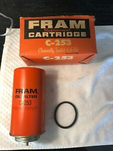 Nos New Fram C 253 Engine Oil Filter Cartridge Vintage Car Truck