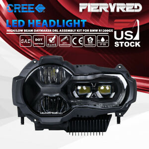 Led Headlight High Low Beam Daymaker Drl Assembly Kit For Bmw R1200gs