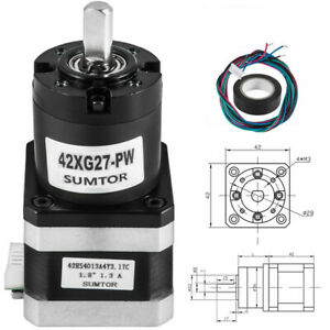 42 Mm Planetary Gear Motor Nema 17 Stepper Motor Lead Wire 4 Inductance 9 2mh