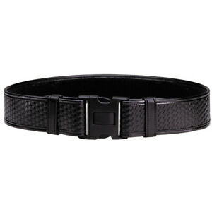 Bianchi Duty Belt Basket Weave Black Finish Medium 34 40
